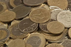 Monete ungheresi differenti della forint Fotografia Stock Libera da Diritti
