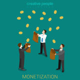 Monetization business investment money flat 3d isometric vector Stock Image