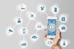 Monetization from digital business models around IOT.  Royalty Free Stock Images