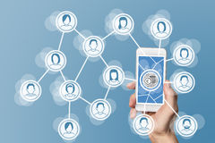 Monetization from digital business models for social networks.  Stock Photo