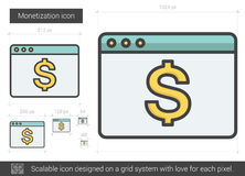 Monetization line icon. Stock Images