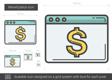 Monetization line icon. Royalty Free Stock Photos
