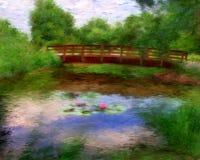Monets Brücke Lizenzfreie Stockfotografie