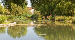 Monets Garden And Lily Pond Stock Photography