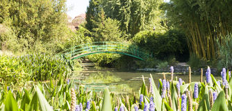 Monets Garden And Lily Pond Royalty Free Stock Photos