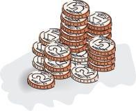 monety. Obraz Stock