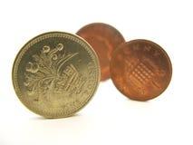 monety anglików Zdjęcia Stock