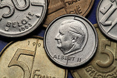 Monety Belgia Obrazy Royalty Free