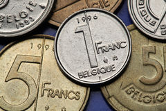 Monety Belgia Zdjęcia Stock