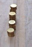 Monety brogują w rzędzie Obraz Royalty Free