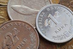 Monety Chorwacja Obrazy Stock