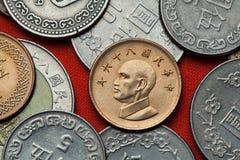 monety do tajwanu Tajwański prezydent Chiang Kai-shek Zdjęcie Royalty Free