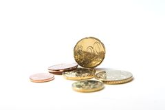 monety euro Fotografia Royalty Free