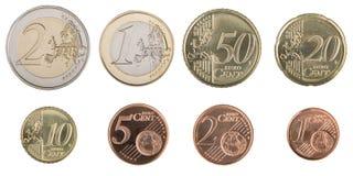 monety euro Obraz Stock
