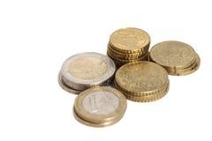 monety euro Zdjęcie Royalty Free