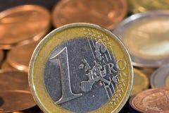 monety euro Zdjęcie Stock