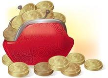 monety folująca kiesa Obrazy Stock
