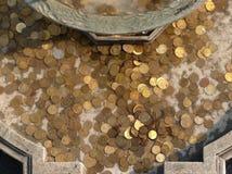 monety fontannę Zdjęcie Royalty Free