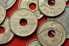 Monety Hiszpania Barcelona 1992 letnie igrzyska Fotografia Stock