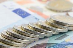 Monety i banknoty obrazy royalty free