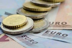 Monety i banknoty fotografia royalty free