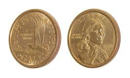 Monety jeden dolara amerykańskiego Sacagawea dolar Zdjęcie Royalty Free