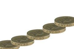 monety jeden funt Obrazy Royalty Free