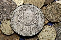 Monety Kazachstan Obrazy Stock
