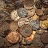 Monety kolekcja Zdjęcia Stock