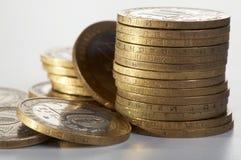 monety kolor żółty Obrazy Royalty Free