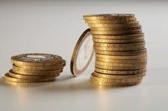 monety kolor żółty Zdjęcia Royalty Free