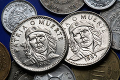 Monety Kuba che Ernesto guevara De Cuba pesos republica tres Zdjęcie Royalty Free
