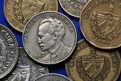 Monety Kuba jose marti Obraz Royalty Free