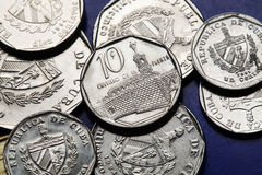 Monety Kuba Kubański odwracalny peso Obrazy Stock