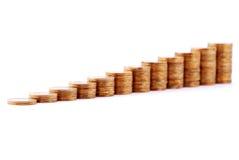 monety miedziują ostrosłup obraz stock