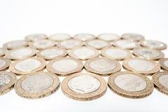 monety odizolowane white Obrazy Royalty Free