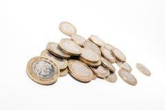 monety odizolowane white Obraz Stock