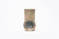 monety odizolowane white Obraz Royalty Free