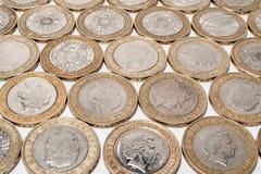 monety odizolowane white Zdjęcia Stock