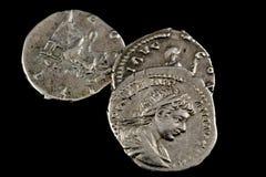 monety odizolowywali rzymskiego Obrazy Royalty Free