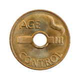 monety pełnoletnia kontrola obrazy stock