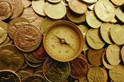 monety placer Fotografia Stock