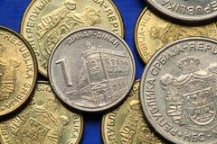 Monety Serbia Obraz Royalty Free