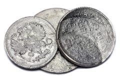 monety srebro Obraz Stock