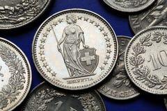 Monety Szwajcaria Obraz Stock
