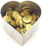 Monety w kierowym kształt stali nierdzewnej ciasta cutt Zdjęcie Stock