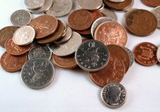 monety wielkiej brytanii anglików Obraz Royalty Free