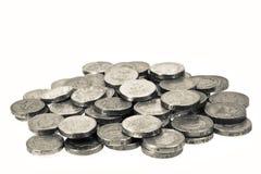 monety wypiętrzać funt jeden Obraz Stock
