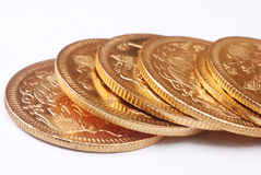 monety złoto Zdjęcia Royalty Free