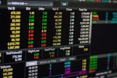 monety zestrzelają wykresu rynku ołówek snd czerwony zapas podnosi Fotografia Royalty Free